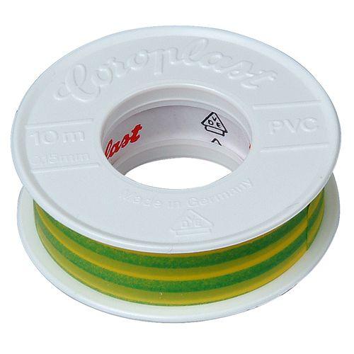 Ruban isolant Kopp 15mmx10m vert/jaune 2pcs