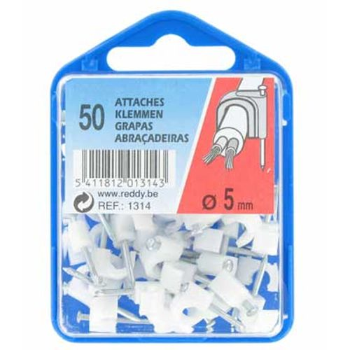 Reddy clips 5mm wit 50st.