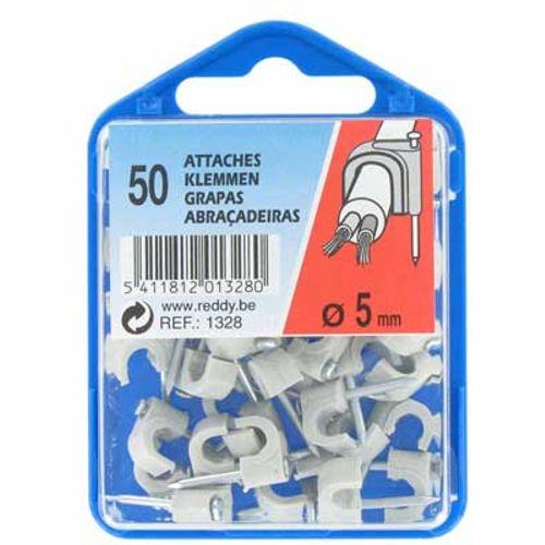 Reddy clips 5mm grijs 50st.
