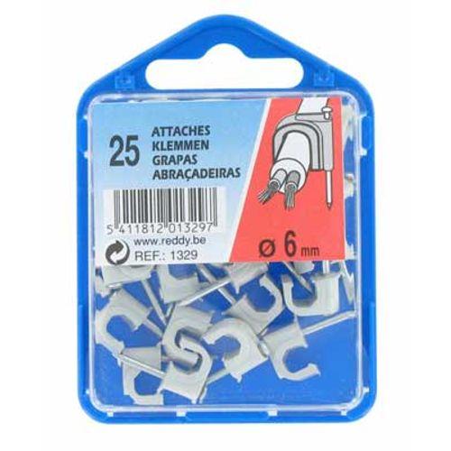 Reddy clips 6mm grijs 25st.