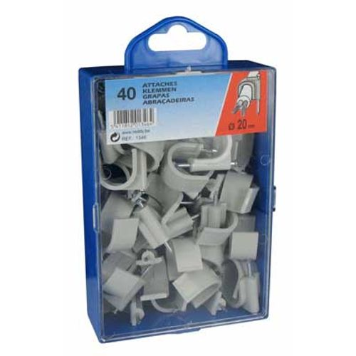 Reddy clips 20mm grijs 40st.