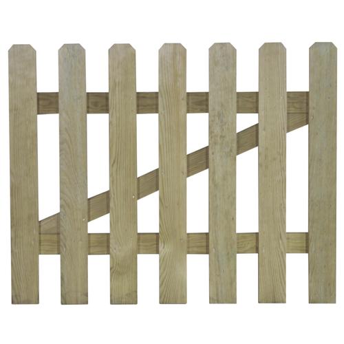 Poort Campagne natuurlijk hout 80x100cm