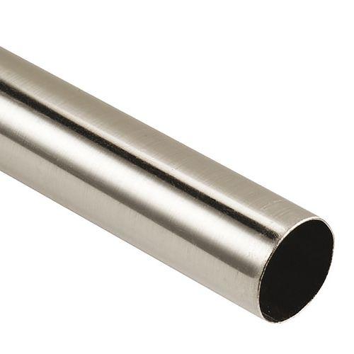 Barre de rideau DecoMode Inox 200cm 28mm