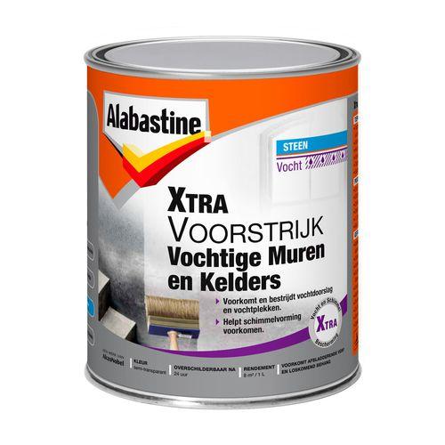 Alabastine voorstrijk Xtra vochtige muren en kelders wit 1l