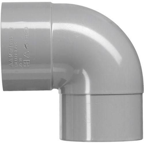 Martens PVC bocht 32mm 1xlm 87gr grijs