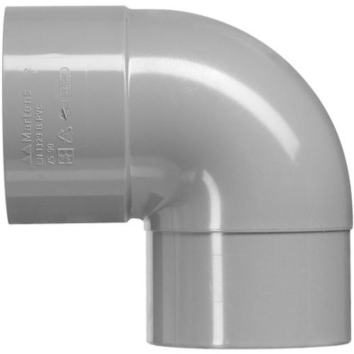 Martens PVC bocht 50mm 1xlm 90gr grijs