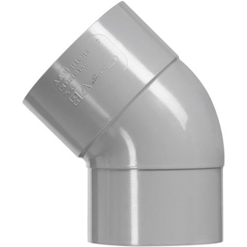 Martens PVC bocht 32mm 1xlm 45gr grijs