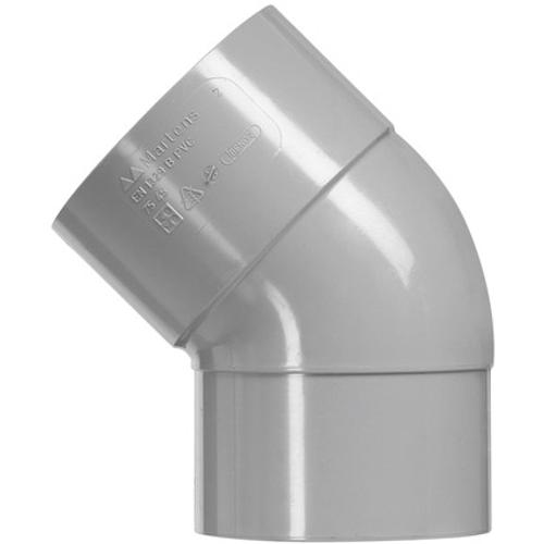 Martens PVC bocht 50mm 1xlm 45gr grijs
