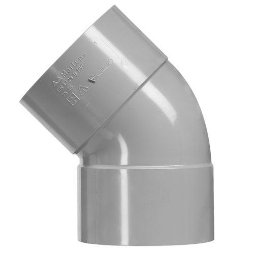 Martens lijmbocht 'VV - 45 graden' PVC diam 100 mm