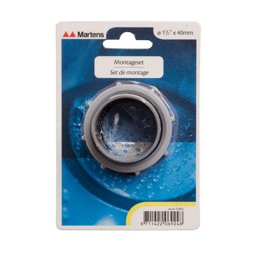 Martens montageset voor sifon 11/2x40mm grijs