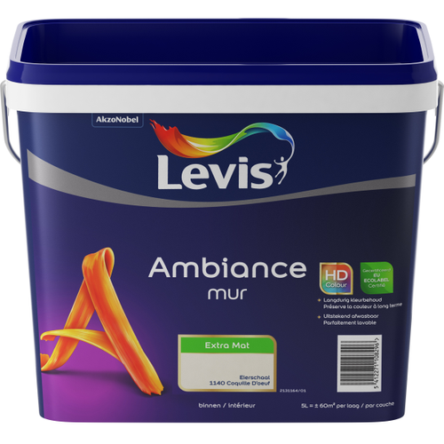 Levis muurverf Ambiance Muur eierschaal extra mat 5L