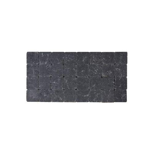 Pavé tambouriné Coeck 10x10x6 noir