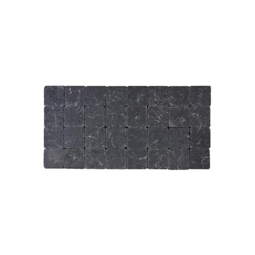 Coeck kassei zwart getrommeld 10x10x6cm