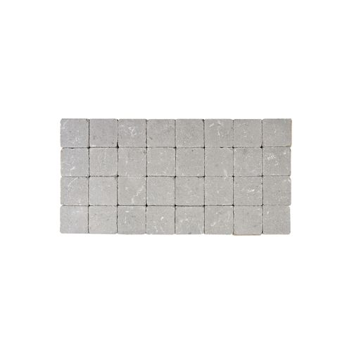 Coeck kassei grijs getrommeld 10x10x6cm