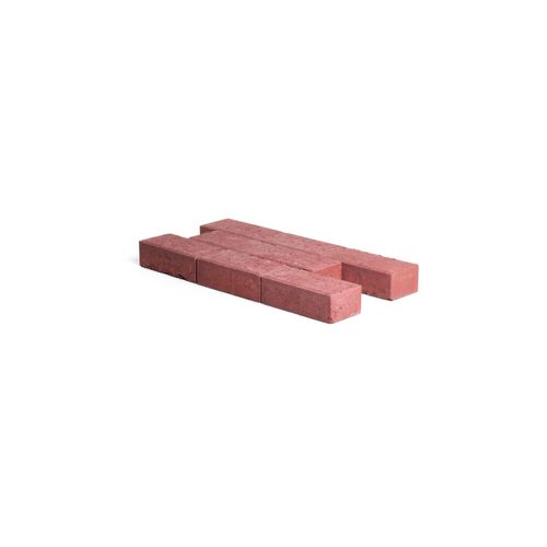 Pavé en béton Coeck 22x11x7cm rouge chanfrein 3,5/5,5 benor