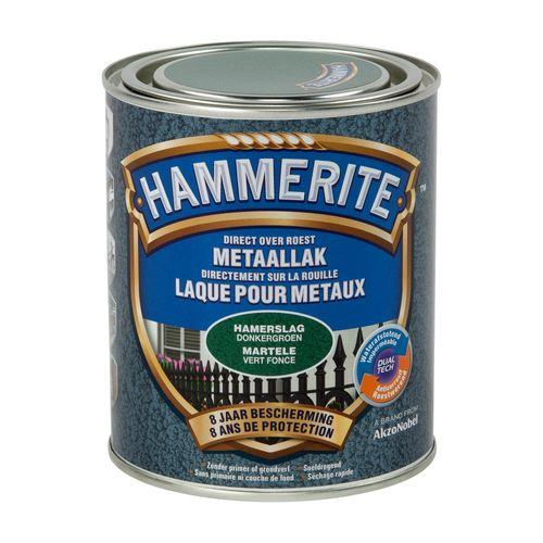 Laque métaux Hammerite martelé vert foncé 750ml
