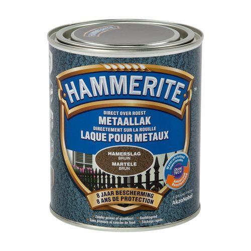 Laque métaux Hammerite martelé brun 750ml