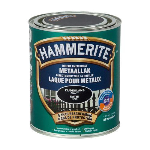 Laque métaux Hammerite satin noir 750ml
