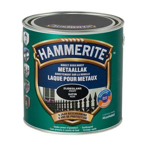 Hammerite satijnlak zwart  2,5L