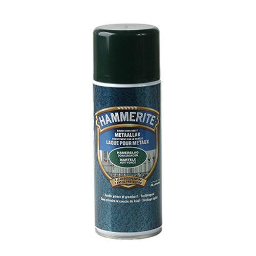 Laque métaux spray Hammerite martelé vert foncé 400ml
