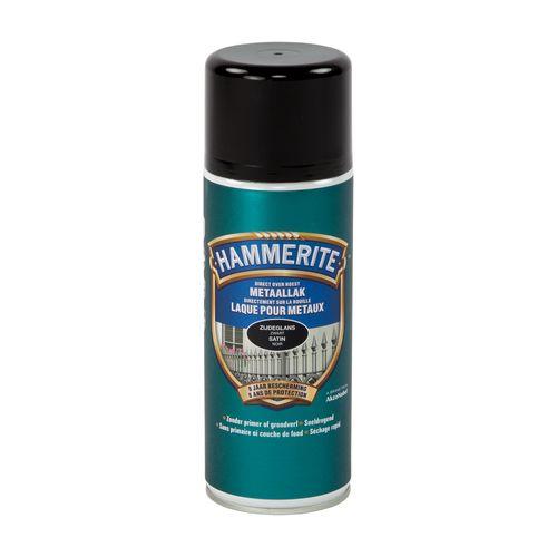 Spray laque métaux Hammerite satiné noir 400ml