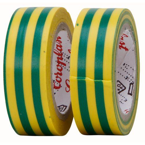 Isolatieband 4,5 mtr geel/ groen 2 rollen