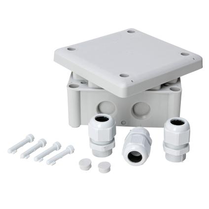 Kopp kabeldoos IP65 110x110x40mm + 3 M20 wartels