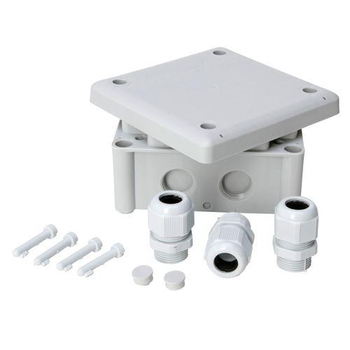 Kopp kabeldoos 110x110x40mm + 3 M20 wartels IP65