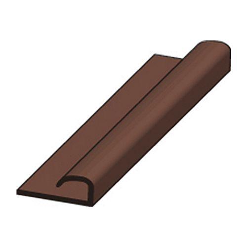 Profilé de finition JéWé PVC brun 2 cm