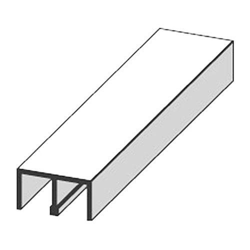 Profilé glissière supérieure JéWé PVC blanc 0,6x260cm