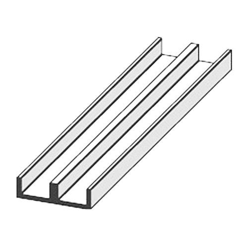 Profilé glissière JéWé PVC (inférieur) blanc 1,8 cm