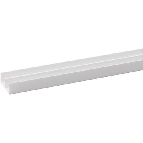 Profilé glissière JéWé PVC (supérieur) blanc 4,2 cm