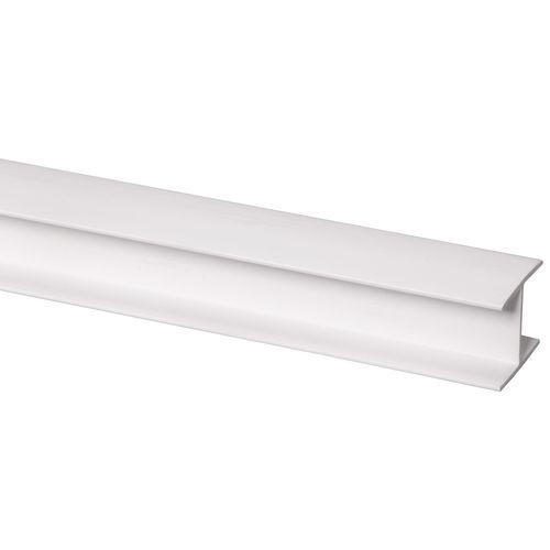 Profilé intermédiaire plastique blanc 21x25mm 260cm