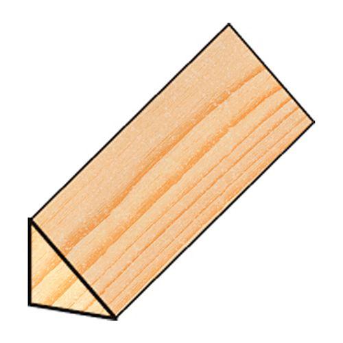 Moulure triangle JéWé sapin 1,5x1,5x210cm