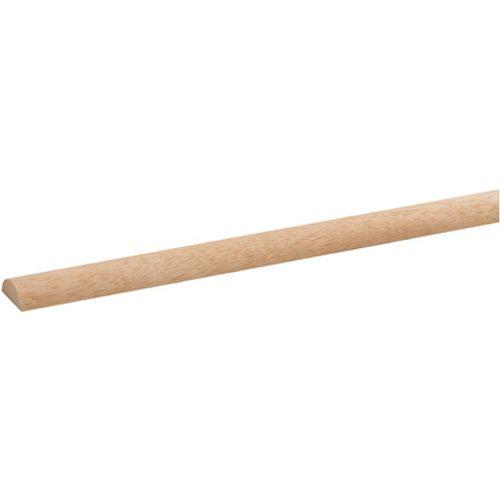 Latte demi rond JéWé en bois dur blanc 240cm 22x9mm