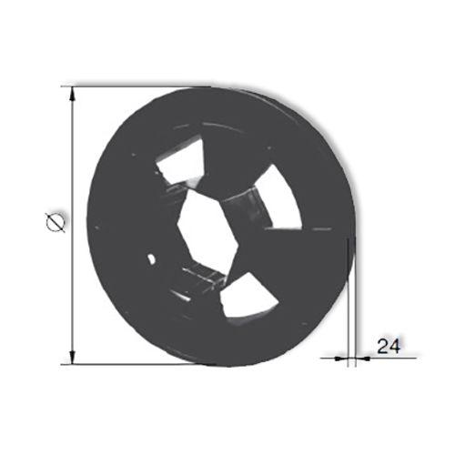 Poulie pour sangle Packline amovible PVC 200 mm