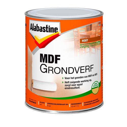 Alabastine grondverf MDF 2 in 1 1L