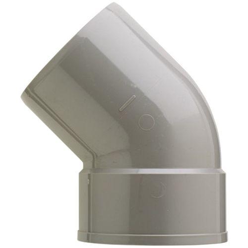 Martens PVC bocht 125mm 1xlm 45gr grijs