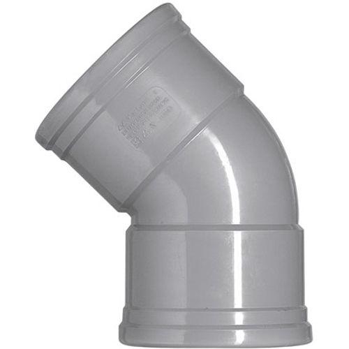 Martens PVC bocht 125mm 2xmm 45gr grijs