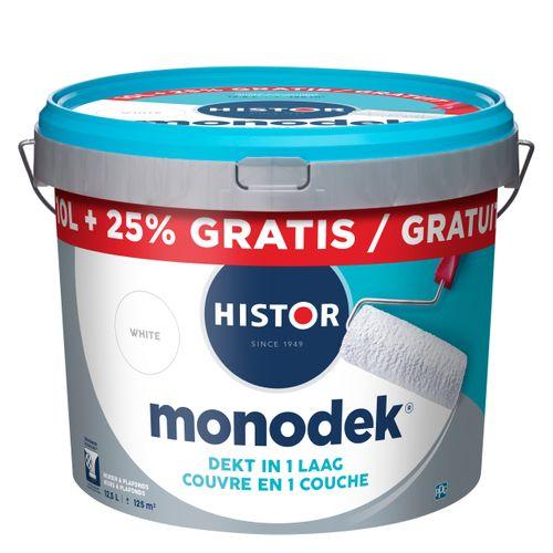 Histor latex Monodek mat wit 10L + 2,5 liter