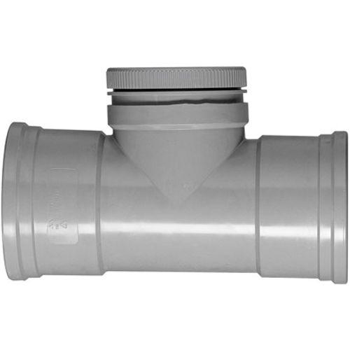 Martens ontstoppingsstuk met schroefdeksel 125mm grijs