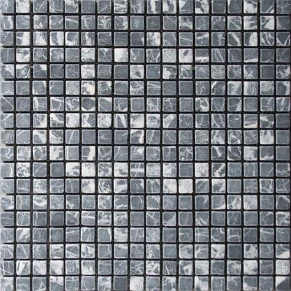 Mozaïek tegel Marmer zwart 30x30cm