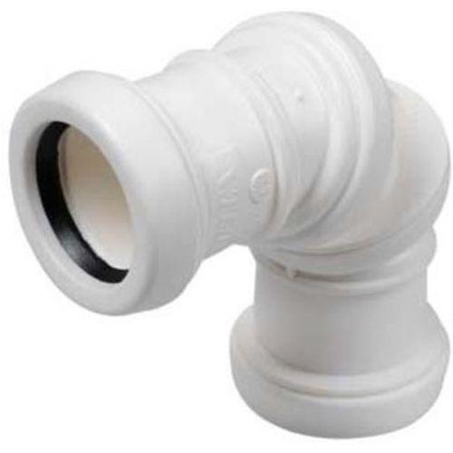 PPC bocht verstelbaar niet verlijmbaar 32mm wit