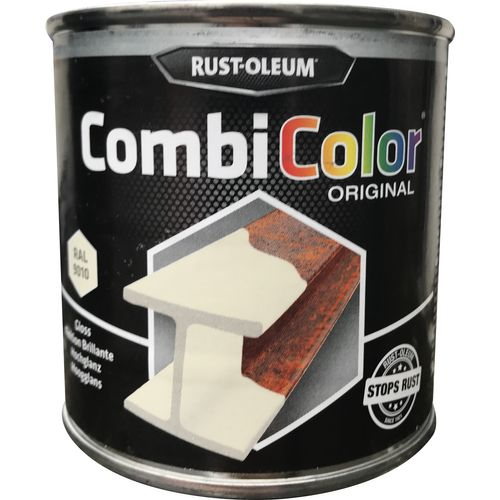 Peinture Rust-Oleum 'Combi Color' blanc brillant 250ml