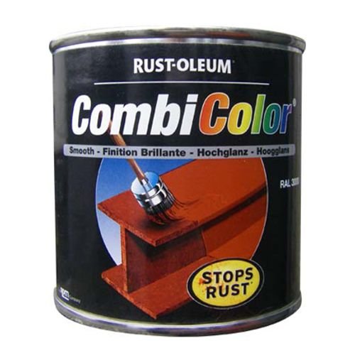 Peinture Rust-Oleum 'Combi Color' jaune danger brillant 250ml