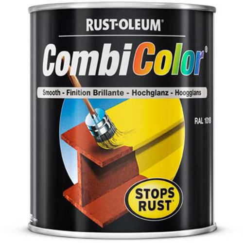 Peinture Rust-Oleum 'Combi Color' noir brillant 750ml