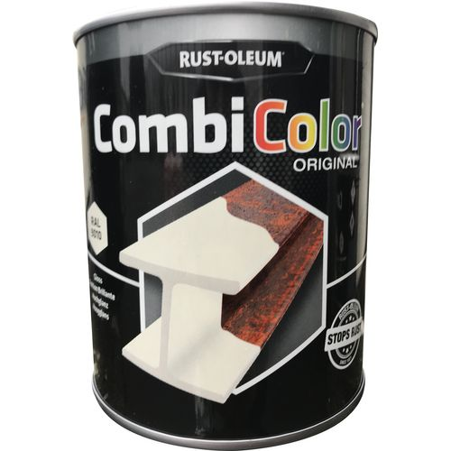 Peinture Rust-Oleum 'Combi Color' blanc brillant 750ml