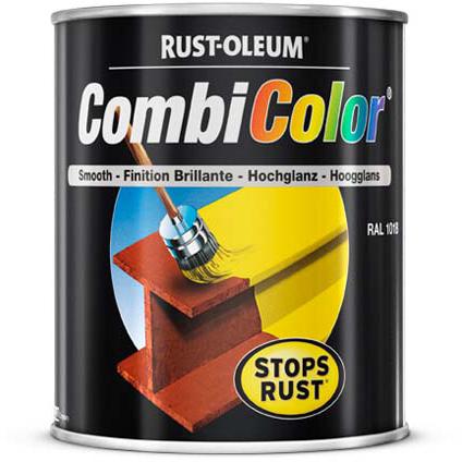 Peinture Rust-Oleum 'Combi Color' bleu acier brillant 750ml