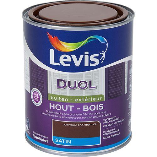 Laque Levis Duol brun noix satin 750ml