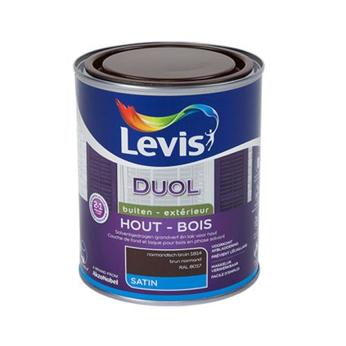Laque Levis Duol brun normand satin 750ml